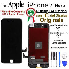 Display LCD Retina IC Originale con Touch Screen per Apple iPhone 7 Nero TIANMA