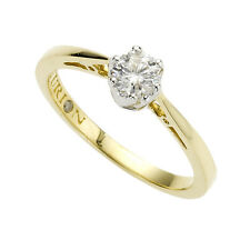Diamonds by Ellen K. Ring 585/- Gold gelb poliert Diamant Brillant Solitär Damen
