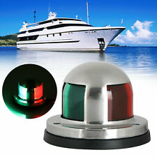 12V LED Boat Navigation Light Red & Green Stainless Steel Marine LED Side Light