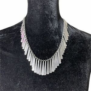 Hammered Silver Cleopatra Choker Necklace