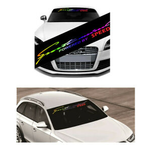 New Laser Reflective Letters Front Rear Window Car Sun Visor Decorative Stickers
