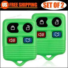 2 New Replacement Entry Remote Green Fob Clicker Transmitter Control Alarm