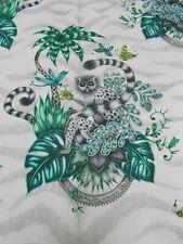 CLARKE & CLARKE Curtain Fabric EMMA SHIPLEY 'LEMUR' 2.2 METRES (220cm) Jungle