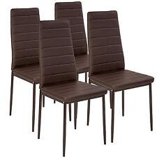 4x Sillas de comedor Juego elegantes sillas de diseño modernas cocina marrón NUE