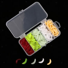 125Pcs Maggot Grub Worm Fishing Lures Realistic Insects False Worms Baits