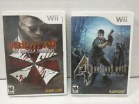 Resident Evil 4 WII Edition   &  THE Umbrella Chronicles Nintendo Wii LOT TESTED