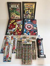 Marvel Comics Office School Supplies Spiderman, Captain America, Iron Man Pencil