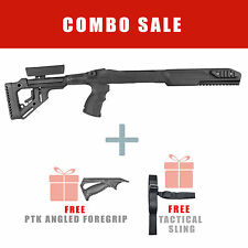 Fab Defense FIXED Stock for Ruger 10/22 w/ Free Angled Handle UAS R10/22 PTK S