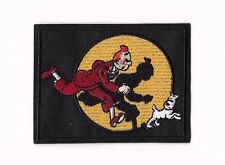 TINTIN & SNOWY IRON ON / SEW ON PATCH Embroidered Cartoon COMIC BOOK PT161