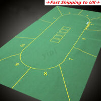 10 Player Texas Holdem Layout Poker Game Cover Felt Rotary Table Board Mat Green