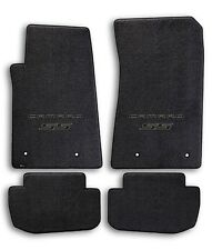 2010-2015 Chevrolet Camaro 4pc Black Carpet Floor Mats w Black SS Logo on Fronts