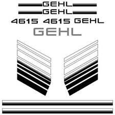 Gehl 4615 Decals, repro decal kit, aftermarket gehl sticker set