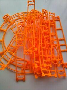 Micro K'Nex Bright Orange Coaster Track x 22 Pieces DW2143 Job Lot Wholesale