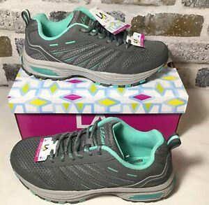 LA Gear Active Women's Size 7 Wide Ascent Gray/Mint (Teal) Athletic Sneakers NIB