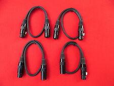 4x 1m DMX Kabel, XLR 3-pol. 110 OHM, Digital AES-EBU, schwarz  1,50 m NEU