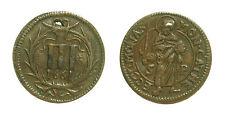 pcc1577_47) GERMANY German States. Munster Copper 3  Pfennig 1661 Nimbate saint