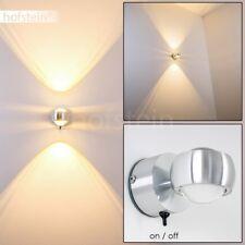 LED Design Wandleuchte silber Badlampe Bade Zimmer Flur Strahler mit Schalter
