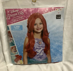 NEW Disguise The Little Mermaid Ariel Deluxe Child Halloween Costume Wig Red