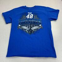 Hendrick Motorsports T-shirt Mens Small Jimmie Johnson #48 Blue Short Sleeve