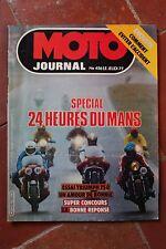 MOTO JOURNAL 456 TRIUMPH 750 Bonneville OSSA 250 HESKETH 24 Heures du Mans 1980
