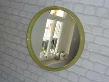 70er WANDSPIEGEL SPIEGEL Kunststoff grün rund 70s space age wall mirror green