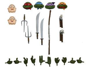 Teenage Mutant Ninja Turtles Turtles in Disguise NECA Heads Weapons Only Target