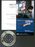 "ROXETTE It Must Have Been Love/Paint/Cry(live) JAPAN 3"" CD TODP-2194 Snapped"