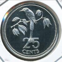Belize 1978 25 Cents - Proof