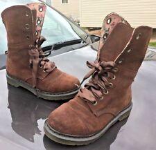 Dr Martens brown triumph aimilie suede leather boots UK 9 EU 43