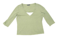 Dorothy Perkins Womens Size 16 Cotton Green T-Shirt (Regular)