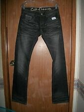 NWT CULT OF INDIVIDUALITY BLACK REBEL STRAIGHT JAPANESE DENIM JEANS SIZE 40 X 34