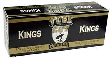 5(Five) Gambler Tube Cut Light King Size Cigarette Tubes 200ct box RYO/MYO
