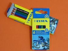 10 x Packs LYRA Mini Corto Triangular Teñido Madera Lápices Infantil Niños