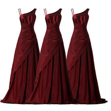 Lang Perlen Brautkleid Hochzeitskleid Abendkleid Brautjungfer Ballkleid Gr.32-46