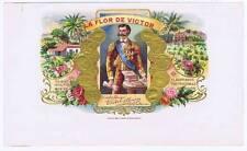 La Flor de Victor inner cigar box label 1899 by Krueger & Braun Litho. N. Y.