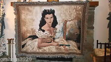 "Gone With the Wind~ SUPER RARE!! ""SCARLETT O'HARA"" AFGHAN/TAPESTRY~1997"