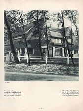 PHOTO GRAVURE LE TOUQUET VILLA  ARCHITECTURE  ART DECO   1929