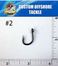 1000 Size #2 4x Strong Custom Offshore Live Bait Hooks