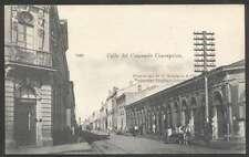 Chile Postcard Calle Del Comercio Concepcion 1900 L@@K