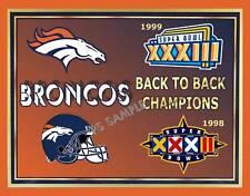 Denver BRONCOS Superbowl Champs 98-99 - Flexible Fridge Magnet