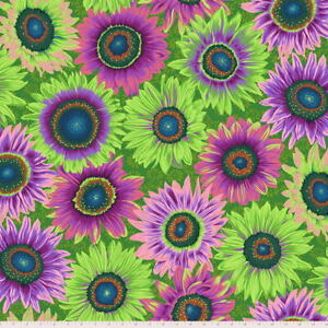 Kaffe Fassett Collective Philip Jacobs Van Gogh-Green Lge Scale Floral Fab BTY