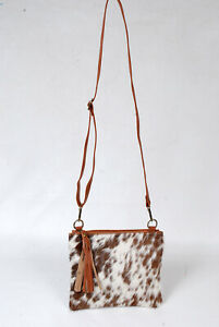 Real Cowhide Cross body Purse Handbag & Hand Clutch  Cow Hide Leather  SA-6284