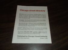 OCTOBER 1976 CHICAGO TRANSIT AUTHORITY STREET DIRECTORY