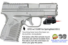 ArmaLaser GTO for Springfield XD-S XDS RED Laser Sight w/FLX09 Grip Touch On/Off