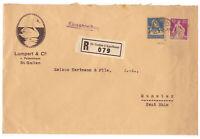 Schweiz, Einschreiben MiNr. 169 + 208 St. Gallen nach Munster, Hochrhein 1927