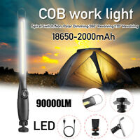 90000LM Rechargeable COB LED Slim Work Light Lamp Flashlight Magnet Torch w
