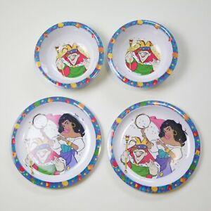 90s Vintage Disney Hunchback of Notre Dame Plastic Plates Bowls Kids Child Set