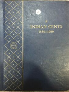 1856-1909 Indian Cent Collection in Whitman Coin Album #2 - see description!