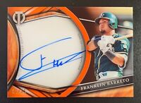 2018 Topps Tribute FRANKLIN BARRETO Autograph Rookie ORANGE REFRACTOR SP /25