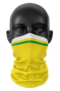 Inspired By Norwich City FC Colours Football Snood Face Mask Neck Head Scarf